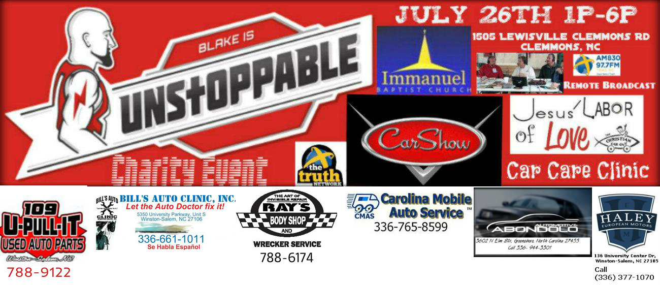 Blake is Unstoppable Car Show Event