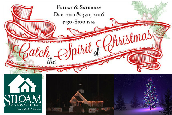 "Catch The Spirit of Christmas ""Live"" At Siloam Missionary Homes This Weekend"