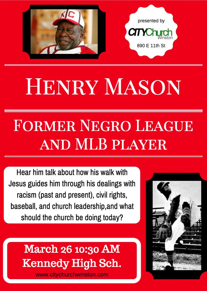 Henry Mason Coming To City Church