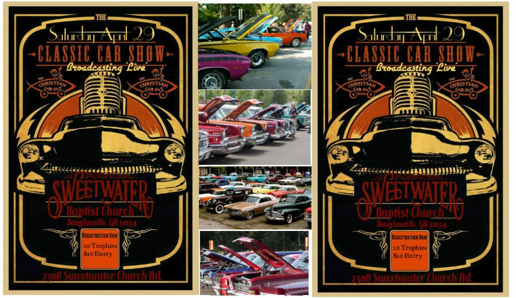 Join us 'Live' In Atlanta: this Saturday April 29th for this Classic Car Show