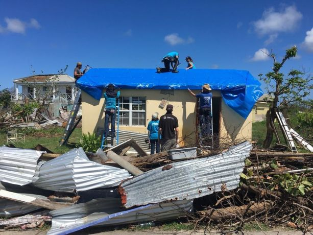 A floating community of Christian volunteers has been helping hurricane victims in the Caribbean