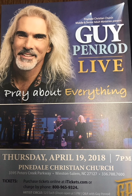 Guy Penrod (Pray About Everything) Live at Pinedale Church April 19
