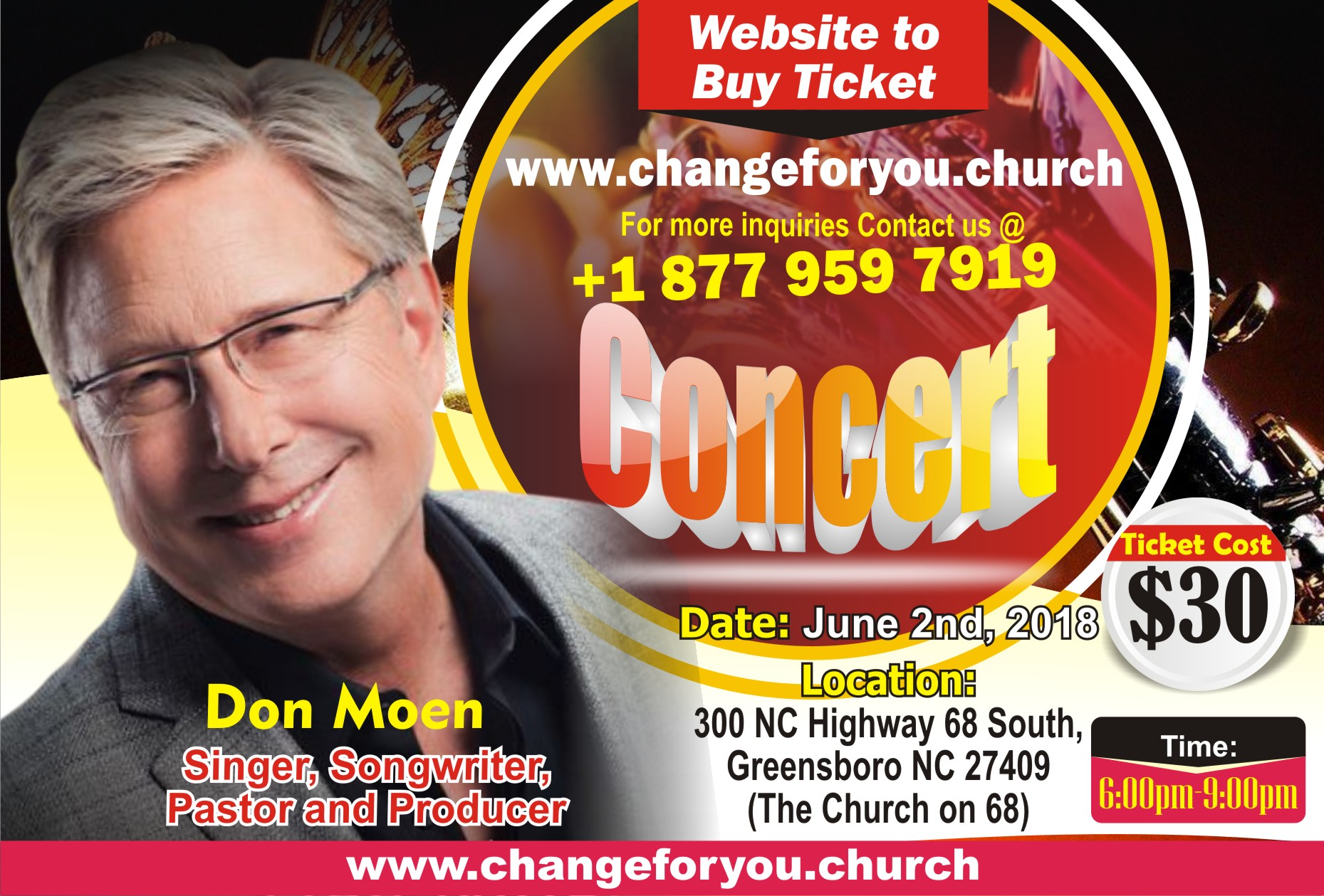Next Level Concert:  Don Moen Greensboro