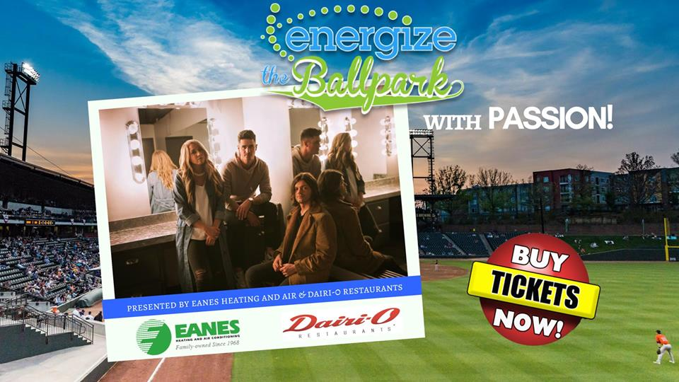 Energize the Ballpark w/ Passion Music Next Saturday 6/23