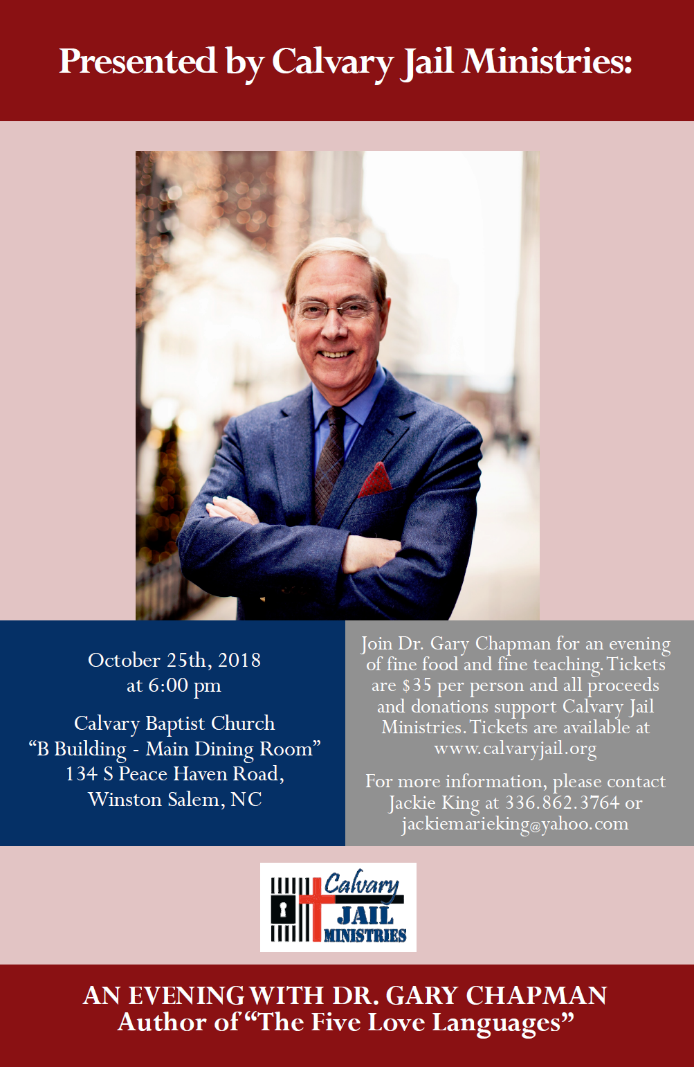 Calvary Jail Ministries Evening with Dr. Chapman October 25th